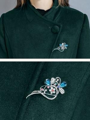 Long Sleeve Casual Shawl Collar Solid Coat_8