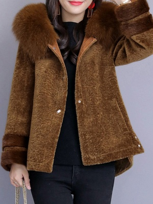 Beaded Slit Hoodie Fur And Shearling Coats_1