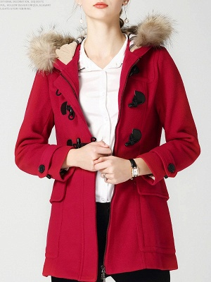 Tencel Hoodie Casual Zipper Buttoned Pockets Solid Coat_10