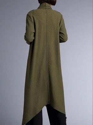 Shawl Collar Casual Long Sleeve Coat_4