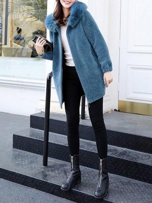 Hoodie Zipper Pockets Fur And Shearling Coats_9