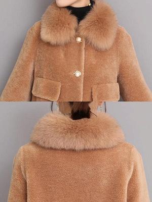 Casual Long Sleeve Fur And Shearling Coats_16