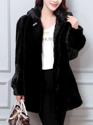 Long Sleeve Casual Hoodie Fur And Shearling Coats_5