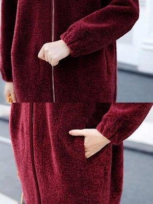 Hoodie Zipper Pockets Fur And Shearling Coats_10