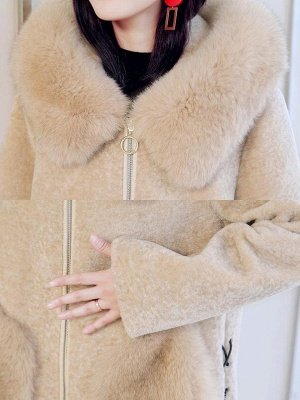 Paneled Hoodie Paneled Solid Fur And Shearling Coats_9