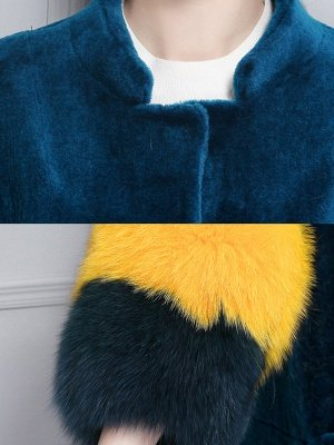 Embroidered Paneled Fur and Shearling Coat_7