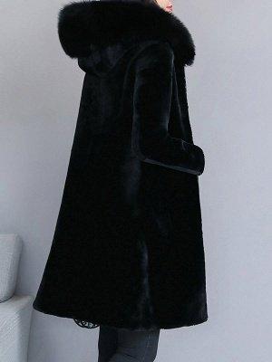 Shift Long Sleeve Zipper Solid Fur And Shearling Coats_3