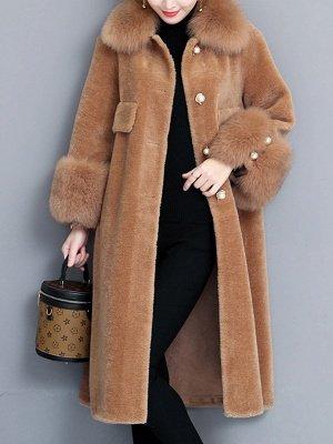 Casual Long Sleeve Fur And Shearling Coats_10