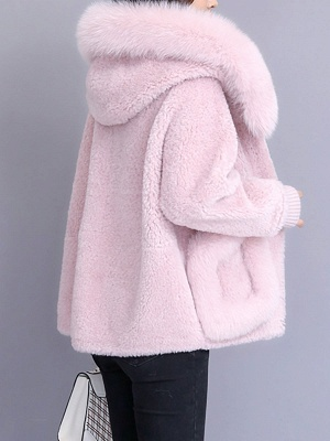 Long Sleeve Shift Fur And Shearling Coats_12
