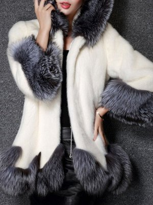 Long Sleeve Fluffy Casual Faux Fur Coat_1