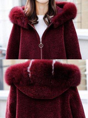 Hoodie Zipper Pockets Fur And Shearling Coats_11