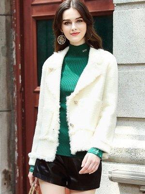 Long Sleeve Work Lapel Shift Fur And Shearling Coats_8
