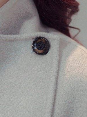 Elegant Wool Fur A-line And Shearling Coat_2