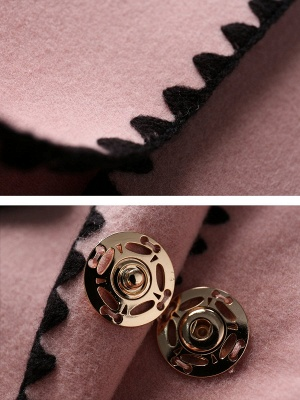 Pink Embroidered Long Sleeve Shift Coat_6