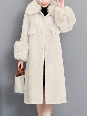 Casual Long Sleeve Fur And Shearling Coats_2