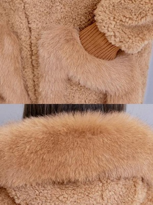 Hoodie Paneled Fluffy Solid Fur And Shearling Coats_9