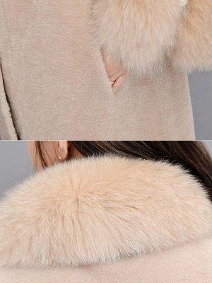Women's Winter Faux Fur Shearling Coats With Fur Collar_11