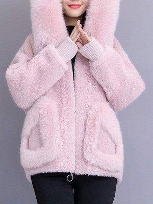 Long Sleeve Shift Fur And Shearling Coats_1