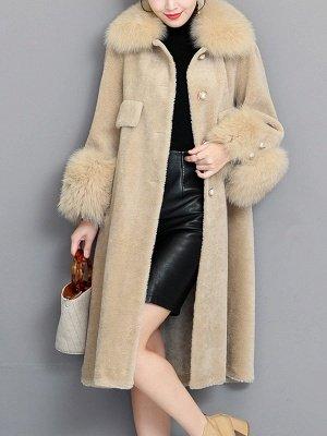 Casual Long Sleeve Fur And Shearling Coats_15