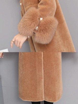 Casual Long Sleeve Fur And Shearling Coats_17
