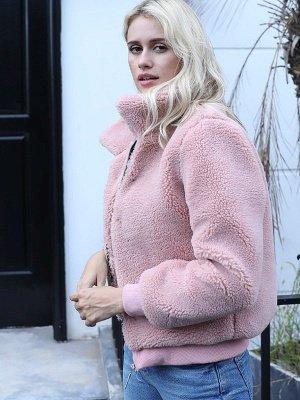 Long Sleeve Pockets Solid Fur And Shearling Coats_7