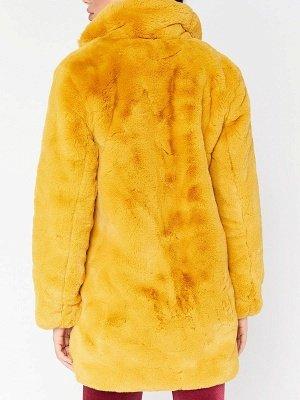Long Sleeve Pockets Fluffy Fur and Shearling Coat_8
