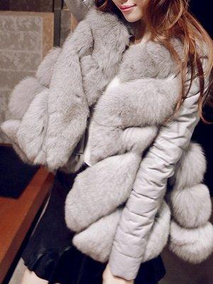 Long Sleeve A-Line Fluffy Elegant Fur And Shearling Coats_4