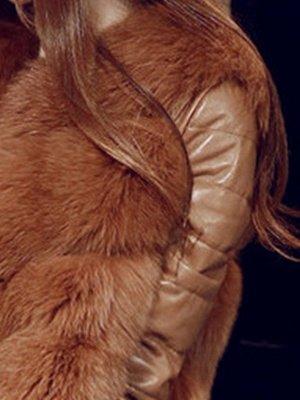 Long Sleeve A-Line Fluffy Elegant Fur And Shearling Coats_10