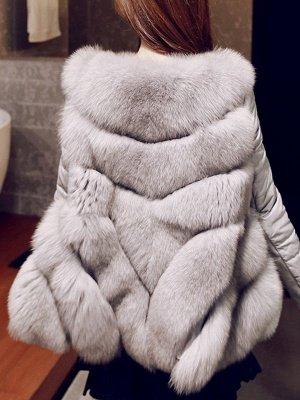 Long Sleeve A-Line Fluffy Elegant Fur And Shearling Coats_13