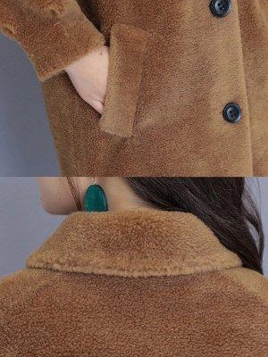 Solid Pockets Long Sleeve Casual Fur And Shearling Coats_11