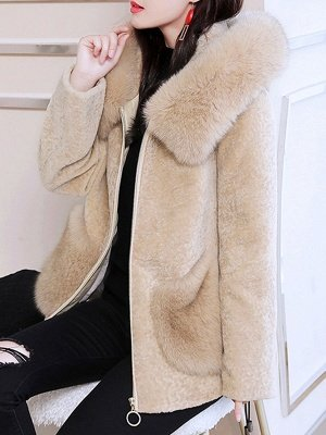 Paneled Hoodie Paneled Solid Fur And Shearling Coats_11