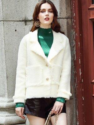 Long Sleeve Work Lapel Shift Fur And Shearling Coats_2