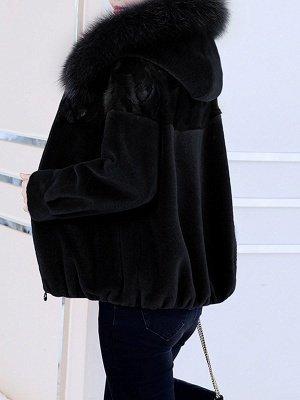 Hoodie Long Sleeve Zipper Fur And Shearling Coats_6