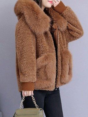 Long Sleeve Shift Fur And Shearling Coats_8