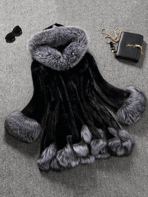 Long Sleeve Fluffy Casual Faux Fur Coat_2