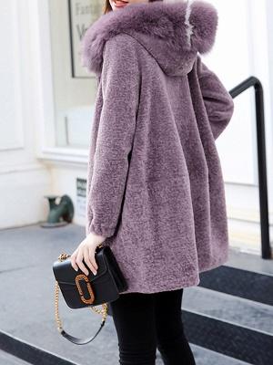 Hoodie Zipper Pockets Fur And Shearling Coats_8