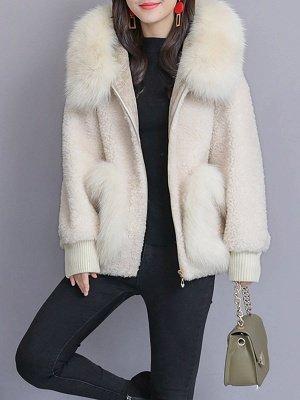 Long Sleeve Shift Fur And Shearling Coats_3