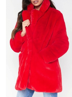 Long Sleeve Pockets Fluffy Fur and Shearling Coat_2