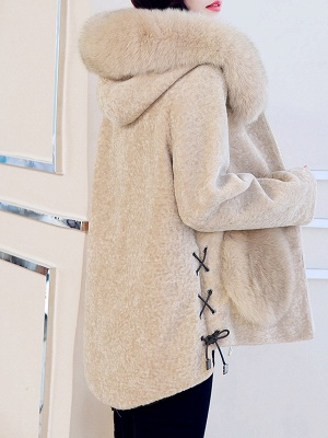 Paneled Hoodie Paneled Solid Fur And Shearling Coats_7