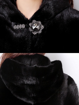 Long Sleeve Casual Hoodie Fur And Shearling Coats_8