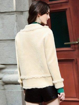 Long Sleeve Work Lapel Shift Fur And Shearling Coats_6