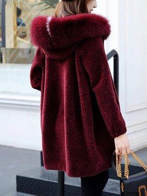 Hoodie Zipper Pockets Fur And Shearling Coats_5
