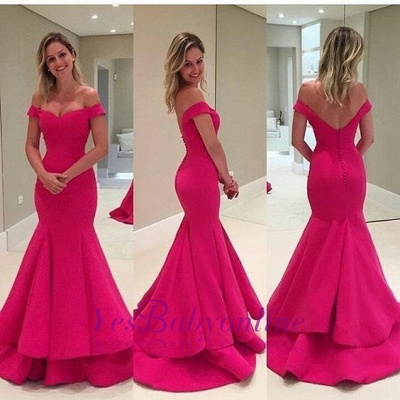 Sexy Off-the-Shoulder Prom Dresses | Long Mermaid Evening Dresses_1
