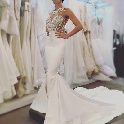 Glamorous Sleeveless Sexy Mermaid Wedding Dresses | Open Back Lace Bridal Dress Online_4