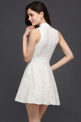 FRANKIE | Jewel White Lace Short Party Dresses_4