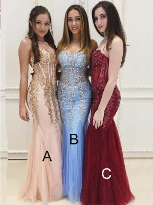 Mermaid Beads Sweetheart Prom Dress | 2019 Floor-Length Evening Gown_1