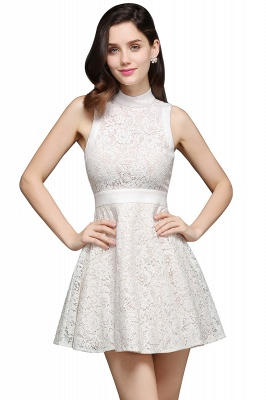 FRANKIE | Jewel White Lace Short Party Dresses_6
