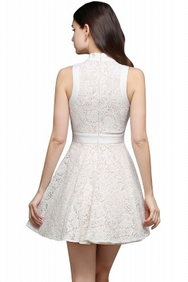 FRANKIE | Jewel White Lace Short Party Dresses_3
