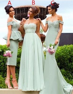 Off-the-Shoulder Gorgeous Lace Mermaid Bridesmaid Dress_2