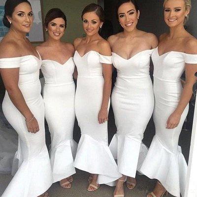 Modern Hi-Lo Mermaid Bridesmaid Dresses | Chic Simple Sleeveless Wedding Party Dresses_4